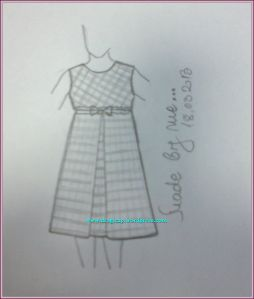 karo haljinica skica